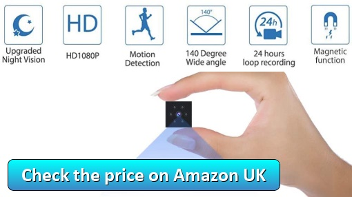 Spy Camera1080P HD by Gutcam - Check the price on Amazon UK