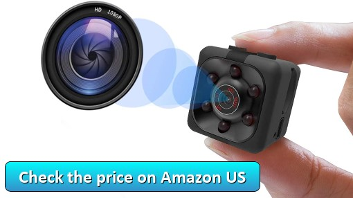 Tekpluze - Mini Camera HD 1080P Babysitter Camera Sports Mini Camera Sports Camera Small Camera, Suitable for Home Office Driving Record Outdoor Sports, etc.  - Check the price on Amazon US